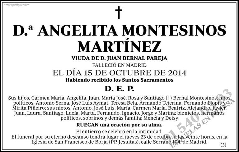 Angelita Montesinos Martínez
